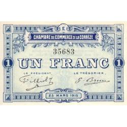 Corrèze / Tulle / Brive - Pirot 51-6-E - 1 franc - 1915 - Etat : SPL+