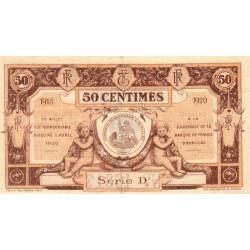 Aurillac (Cantal) - Pirot 16-1b - 50 centimes - Série D - 1915 - Etat : SUP