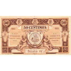 Aurillac (Cantal) - Pirot 16-1d-D- 50 centimes - 1915 - Etat : SUP
