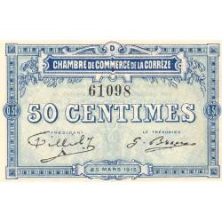 Corrèze / Tulle / Brive - Pirot 51-8-D - 50 centimes - 1915 - Etat : TTB+