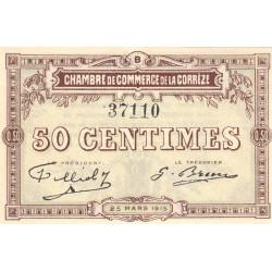 Corrèze / Tulle / Brive - Pirot 51-4-B - 50 centimes - 1915 - Etat : TTB