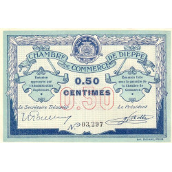 Dieppe - Pirot 52-1a - 50 centimes - 1915 - Etat : SUP+