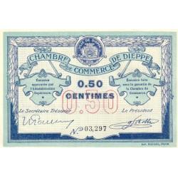 Dieppe - Pirot 52-1a - 50 centimes - Sans date (1915) - Etat : SUP+