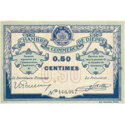 Dieppe - Pirot 52-1b - 50 centimes - Sans date (1915) - Etat : SUP