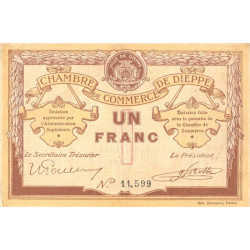 Dieppe - Pirot 52-4a - 1 franc - Etat : TTB