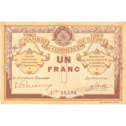 Dieppe - Pirot 52-4a - 1 franc - Sans date (1915) - Etat : TTB
