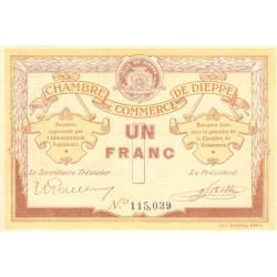 Dieppe - Pirot 52-4b - 1 franc - Sans date (1915) - Etat : SUP+
