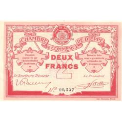 Dieppe - Pirot 52-7a - 2 francs - Etat : SUP+