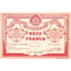 Dieppe - Pirot 52-7b - 2 francs - 1915 - Etat : SUP