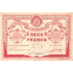 Dieppe - Pirot 52-7b - 2 francs - 1915 - Etat : TB+