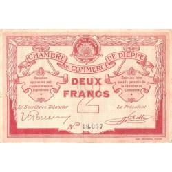 Dieppe - Pirot 52-7b - 2 francs - Sans date (1915) - Etat : TB+