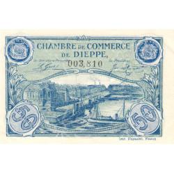 Dieppe - Pirot 52-14 - 50 centimes - 1920 - Etat : SUP+