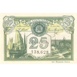 Dieppe - Pirot 52- non réf. - 25 centimes - 1920 - Etat : SUP