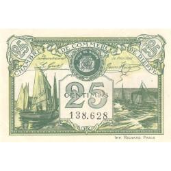Dieppe - Pirot 52- non réf. - 25 centimes - Etat : SUP