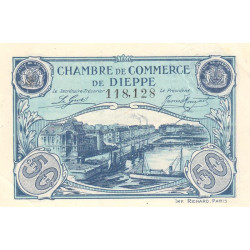 Dieppe - Pirot 52-22 - 50 centimes - 1920 - Etat : SUP+