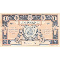 Aurillac (Cantal) - Pirot 16-4c - Série A - 1 franc - 1915 - Etat : SUP