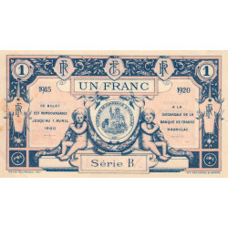 Aurillac (Cantal) - Pirot 16-4d-B - 1 franc - 1915 - Etat : SUP