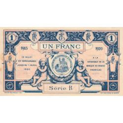 Aurillac (Cantal) - Pirot 16-4d - Série B - 1 franc - 1915 - Etat : SUP
