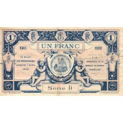 Aurillac (Cantal) - Pirot 16-4c - Série D - 1 franc - 1915 - Etat : TTB