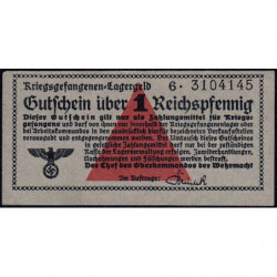 Allemagne - Camp de prisonniers - 1 reichspfennig - Série 6 - 1939/1940 - Etat : SPL+