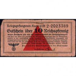 Allemagne - Camp de prisonniers - 10 reichspfennig - Série 2 - 1939/1940 - Etat : TB-