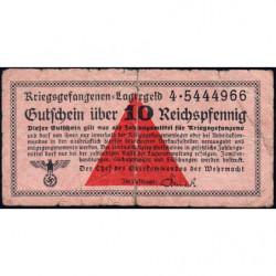 Allemagne - Camp de prisonniers - 10 reichspfennig - Série 4 - 1939/1940 - Etat : B+