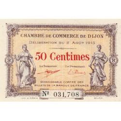 Dijon - Pirot 53-1 - 50 centimes - Sans série - 02/08/1915 - Etat : NEUF