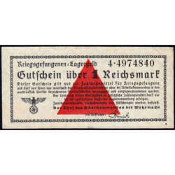Allemagne - Camp de prisonniers - 1 reichsmark - Série 4 - 1939 - Etat : SUP