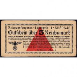 Allemagne - Camp de prisonniers - 5 reichsmark - Série 1 - 1939 - Etat : TTB-