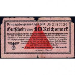 Allemagne - Camp de prisonniers - 10 reichsmark - Sans série - 1939 - Etat : B-