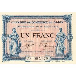Dijon - Pirot 53-4 - 1 franc - Sans série - 02/08/1915 - Etat : NEUF