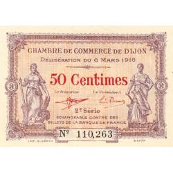 Dijon - Pirot 53-7 - 50 centimes - 1916 - Etat : SUP