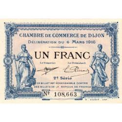 Dijon - Pirot 53-9 - 1 franc - 2e série - 06/03/1916 - Etat : SPL+ à NEUF