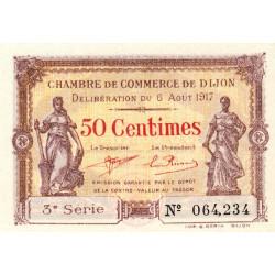 Dijon - Pirot 53-10 - 50 centimes - 3e série - 06/08/1917 - Etat : SPL+ à NEUF