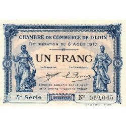 Dijon - Pirot 53-14 - 1 franc - 3e série - 06/08/1917 - Etat : SPL