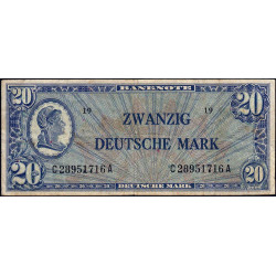 Allemagne RFA - Pick 9a - 20 deutsche mark - 1948 - Etat : TB