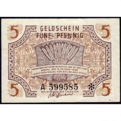 Rhénanie-Palatinat - Occupation Française - Pick S 1004 - 5 pfennig - Série A - 1947 - Etat : TTB+