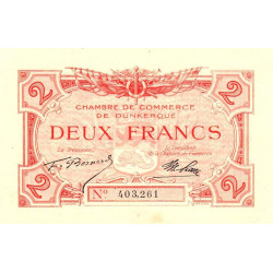 Dunkerque - Pirot 54-9 - 2 francs - Sans date - Etat : SUP