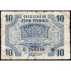 Rhénanie-Palatinat - Occupation Française - Pick S 1005 - 10 pfennig - Série E - 1947 - Etat : B+