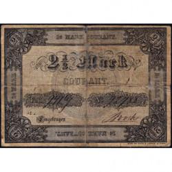 Prusse - Duché de Holstein - Pick S 741 - 2 1/2 mark courant - 17/07/1851 - Etat : B+