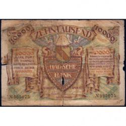 Banque de Baden - Pick S 910_1 - 10'000 mark - Sans série - 01/04/1923 - Etat : B-