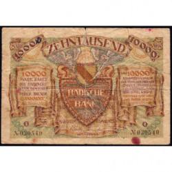 Banque de Baden - Pick S 910_2 - 10'000 mark - Série O -: 01/04/1923 - Etat : AB
