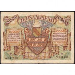 Banque de Baden - Pick S 910_2 - 10'000 mark - Série O - 01/04/1923 - Etat : TTB+