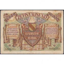 Banque de Baden - Pick S 910_2 - 10'000 mark - Série T - 01/04/1923 - Etat : TTB-