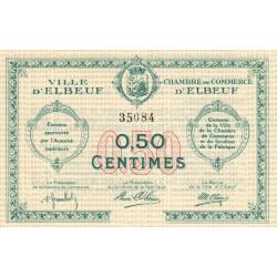 Elbeuf - Pirot 55-01b - 50 centimes - Etat : SUP
