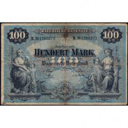Banque de Bavière - Pick S 922 - 100 mark - Série B - 01/01/1900 - Etat : TB-