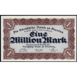 Banque de Saxe - Pick S 962 - 1 million mark - Sans série - 18/08/1923 - Etat : NEUF