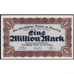 Banque de Saxe - Pick S 962 - 1 million mark - Sans série - 18/08/1923 - Etat : NEUF