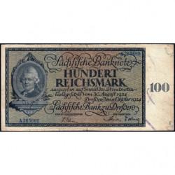 Banque de Saxe - Pick S 971 - 100 reichsmark - Série A - 11/10/1924 - Etat : TB-
