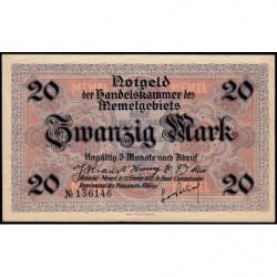 Memel - Pick 6b - 20 mark - 22/02/1922 - Etat : SUP+